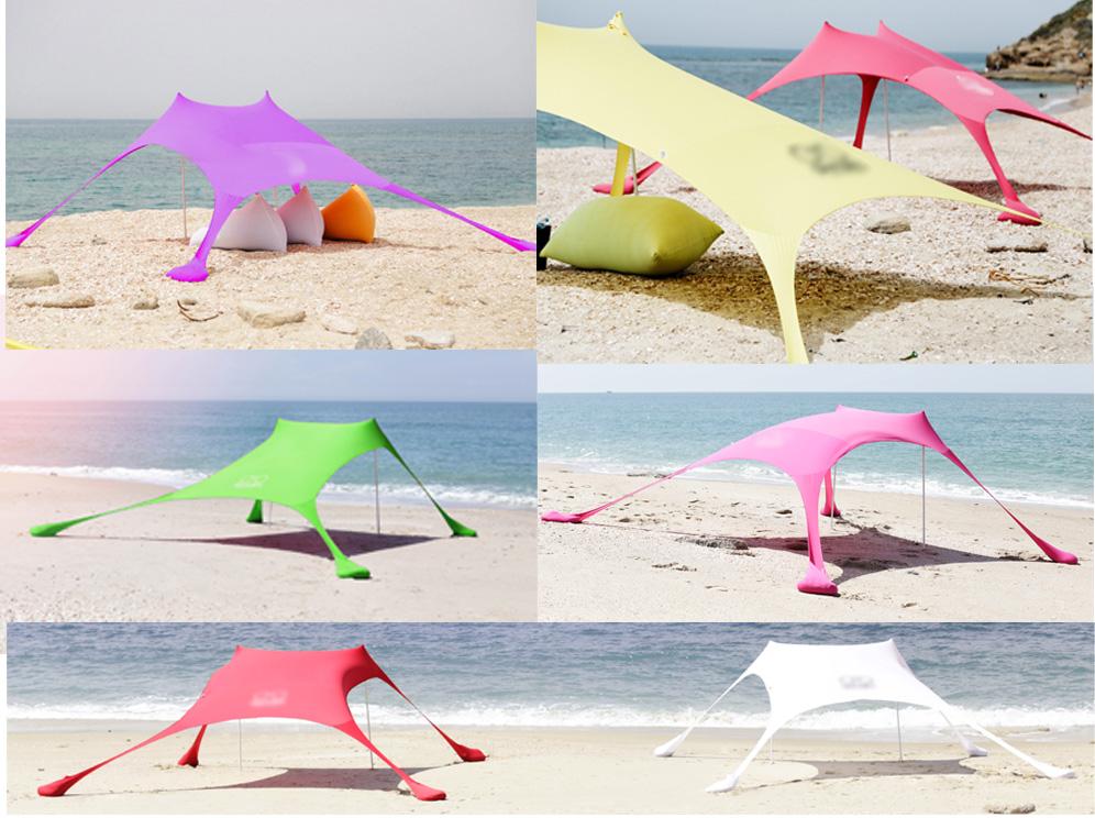 אוהל עם שקי חול