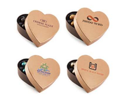 מארז שוקולד בצורת לב