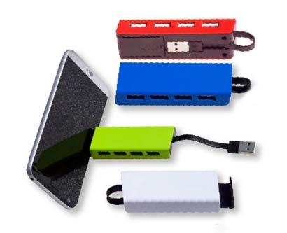 מפצל USB וסטנד לנייד