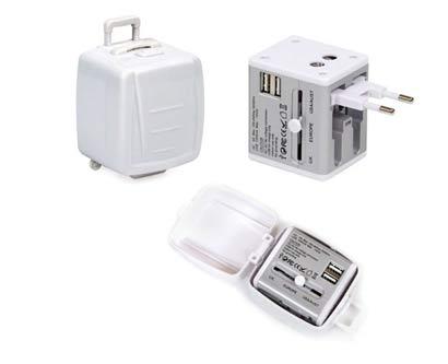 מתאם חשמל אוניברסלי מזוודה