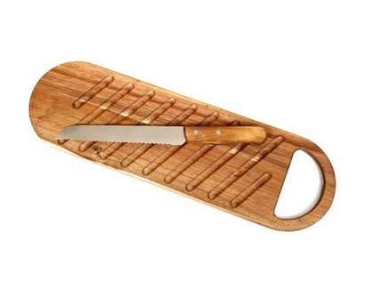 סט במבוק סכין וקרש חיתוך