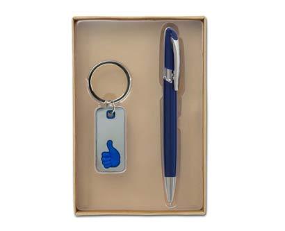 סט מגוסטה עט ומחזיק מפתחות