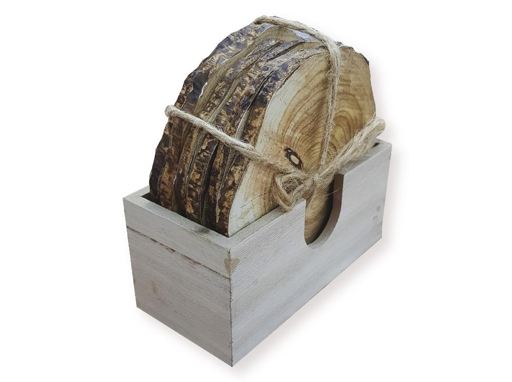 סט תחתיות עץ בבסיס תואם