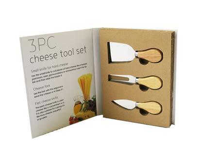 סט 3 סכינים לגבינה