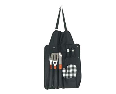 סינר ברביקיו עם כלים