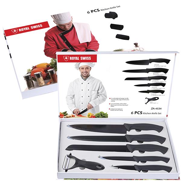שף סט סכינים וקולפן