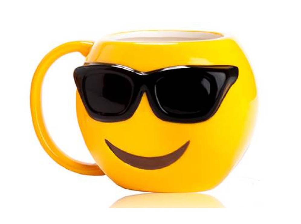 ספל אימוג'י משקפי שמש