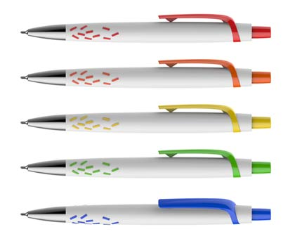 עט חוד מחט גראס לבן