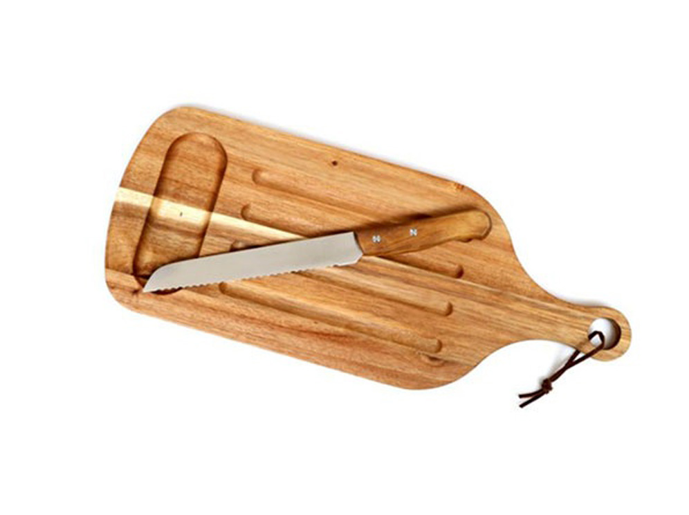 קרש חיתוך עם סכין תואם