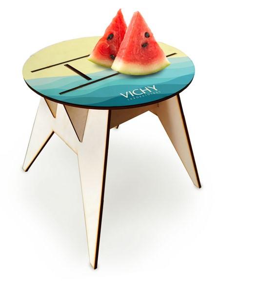 שולחן חוף עגול