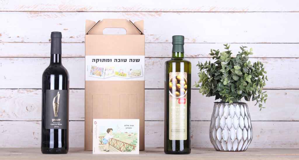 מארז יין +שמן זית