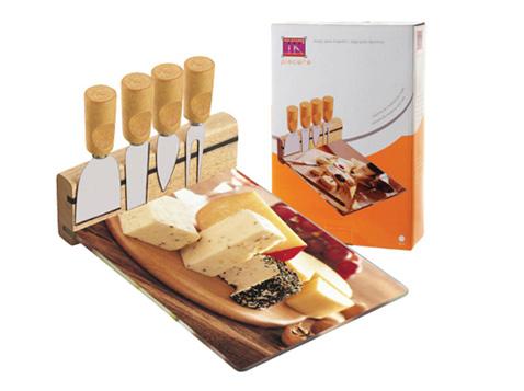 מגש גבינה +4 סכינים
