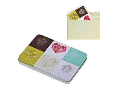 כרטיסי ברכה בקופסא מתכתית