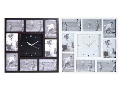 שעון קיר מסגרות לתמונה מעץ