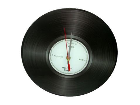 שעון קיר תקליט בינוני
