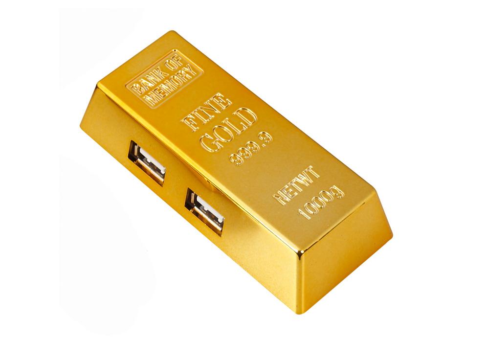 מפצל USB מטיל זהב