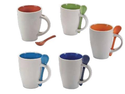 ספל לקפה עם כפית
