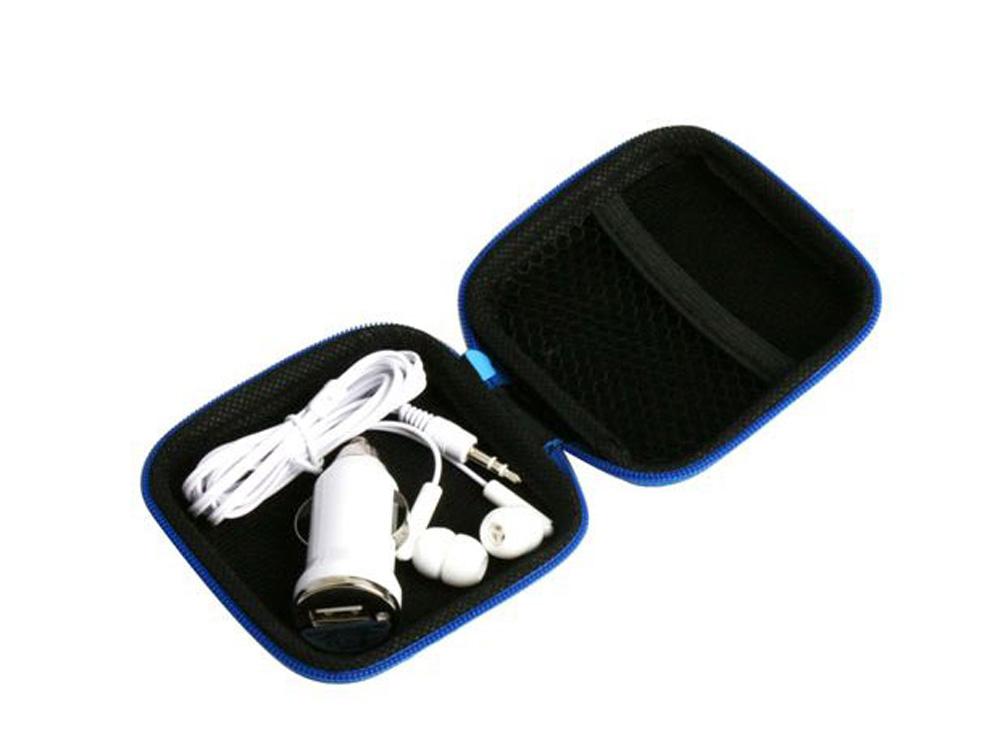 אוזניות עם מתאם USB לרכב
