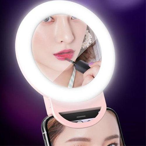 טבעת מראה לנייד כולל תאורה