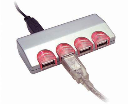 מפצל USB 4 כניסות