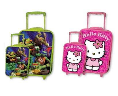 סט מזוודות טרולי לילדים