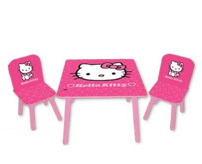 סט שולחן וכיסאות עץ לילדים