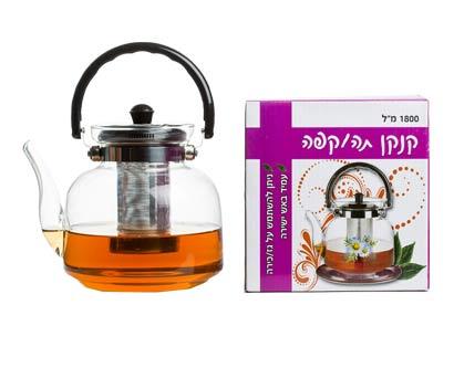 קנקן תה עם מסנן מתכת איכותי