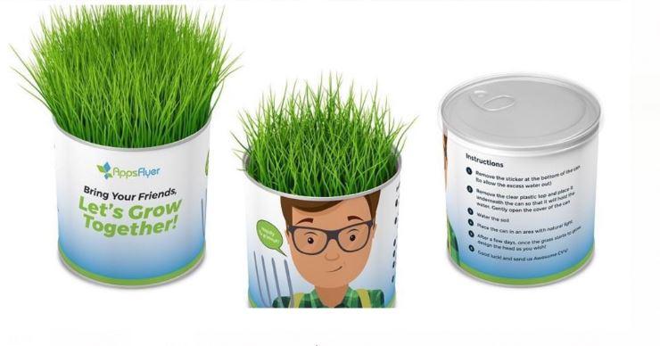 פחית ראש דשא