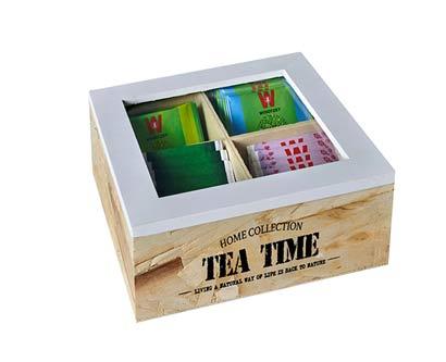 תיבת תה 4 תאים