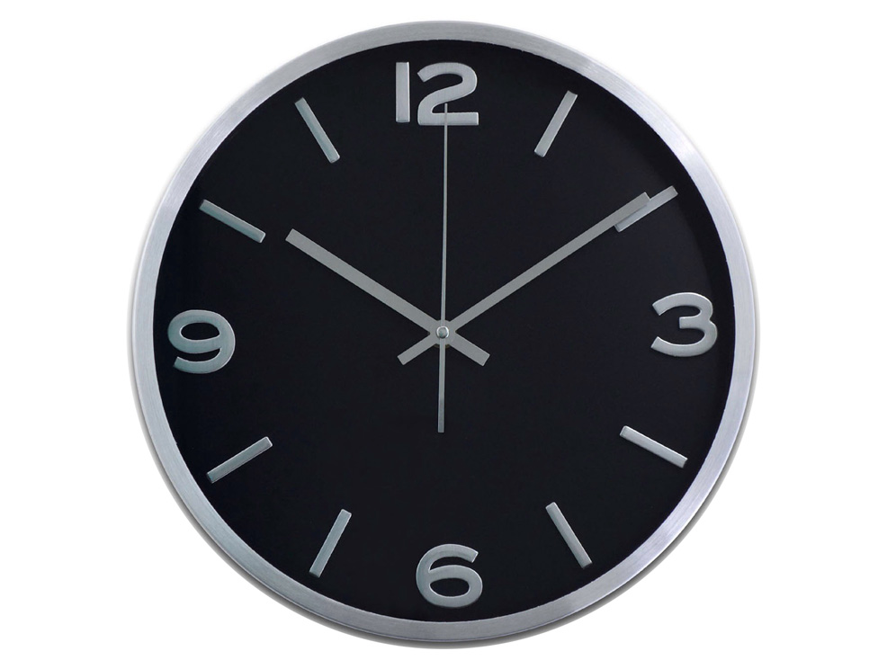 שעון קיר מידנייט כסף