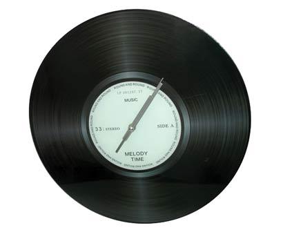 שעון קיר תקליט גדול