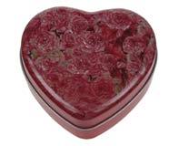קופסת ממתכת בצורת לב